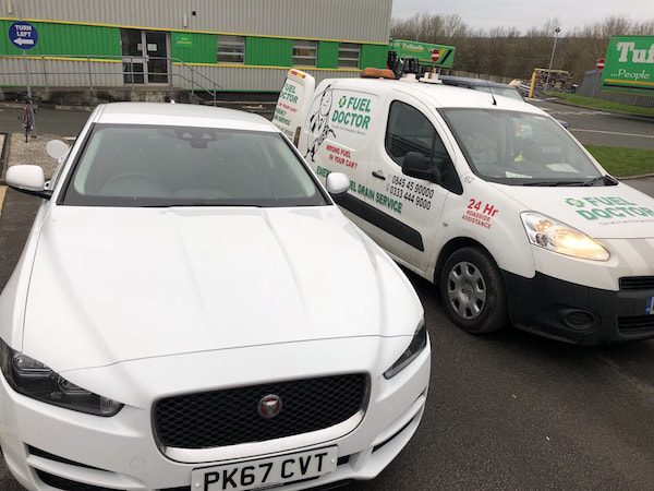 Jaguar wrong fuel in Darwen Blackburn