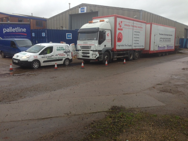 Huge HGV Truck puts wrong fuel in tank and Fuel Doctor drain the fuel and put right fuel in.