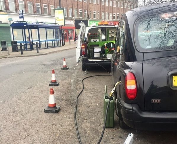 taxi puts wrong fuel in his cab Walsall West Midlands