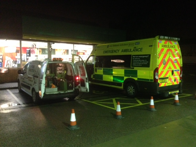 Ambulance put wrong fuel in tank and Fuel Doctor draining wrong fuel out of car