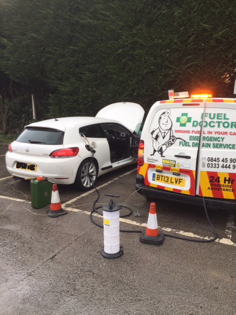golf vw rescued by Fuel Doctor in Penrith