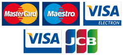 We accept all credit and debit cards on the roadside