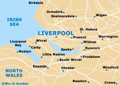 Deeside, Liverpool map