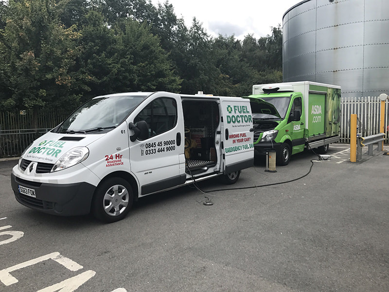 ASDA Van wrong fuel recovery in Walsall near Birmingham