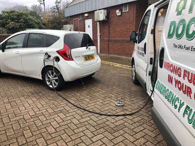 Hybrid Nissan wrong fuel in car Telford