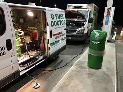 ASDA truck petrol in diesel in Shrewsbury near Telford