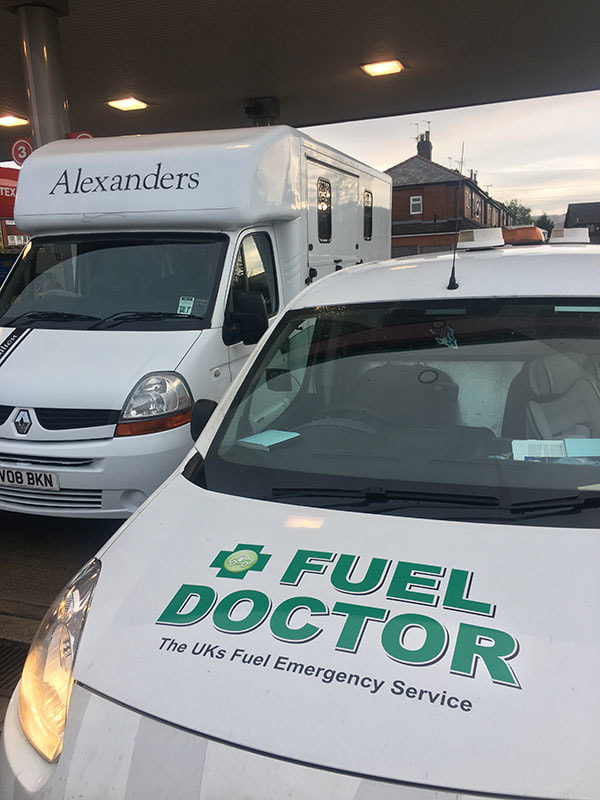 Motorhome puts wrong fuel in tank in Rochdale Lancashire