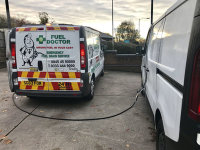 Rescued van that put petrol in diesel in Telford