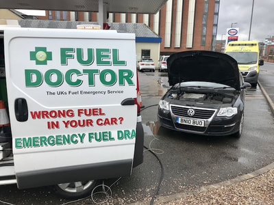 VW Passat recovered wrong fuel in Walsall
