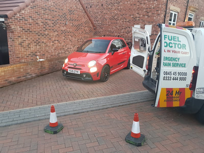 Wrong Fuel, Fiat Abarth 595, Leeds